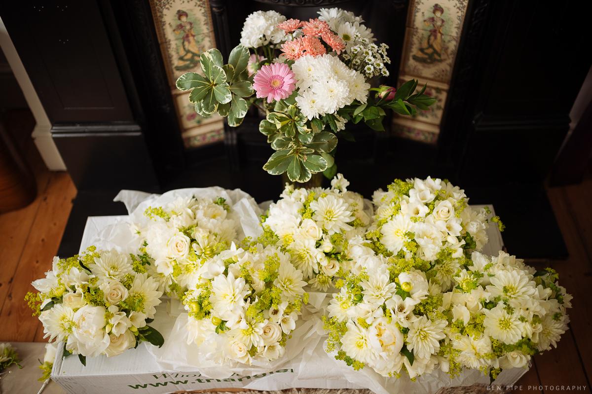 wedding preparations brides flowers floristry