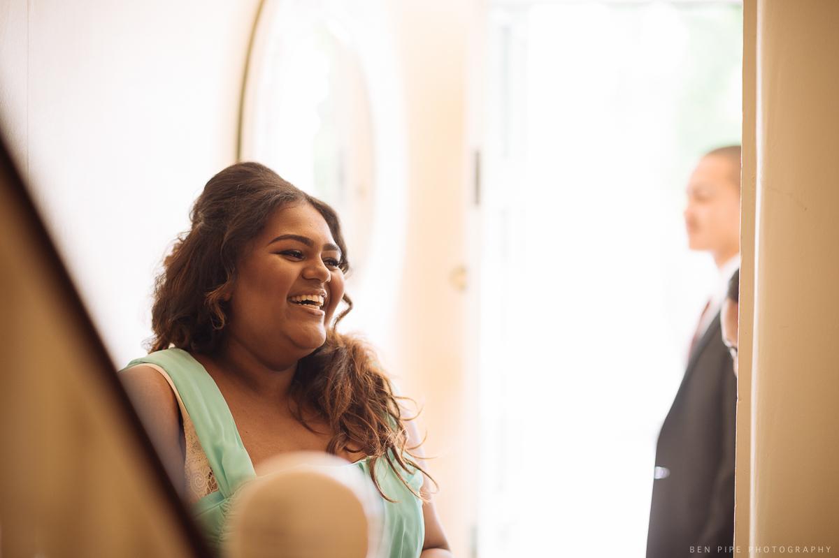 wedding preparations bridesmaids smile