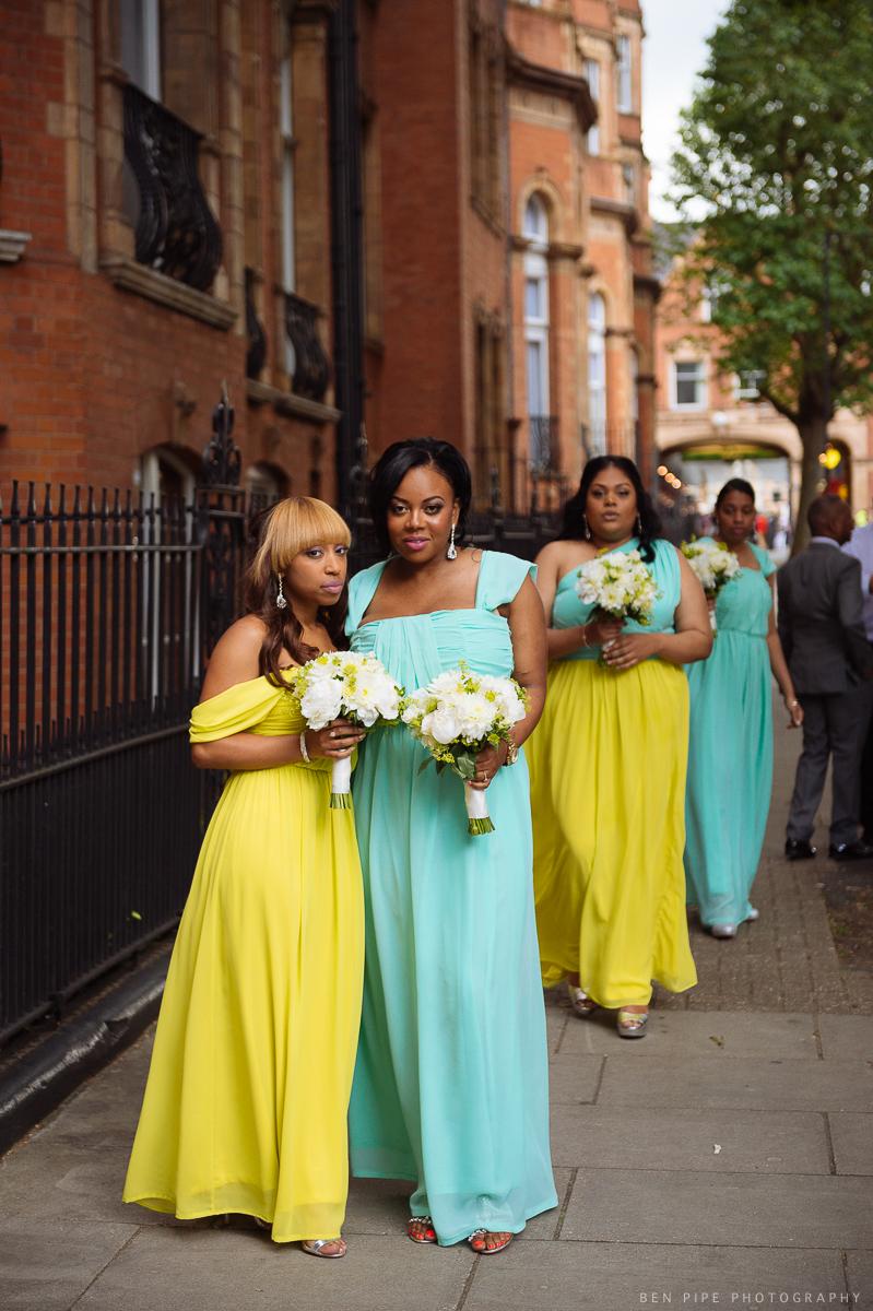 bridesmaids landmark hotel london wedding