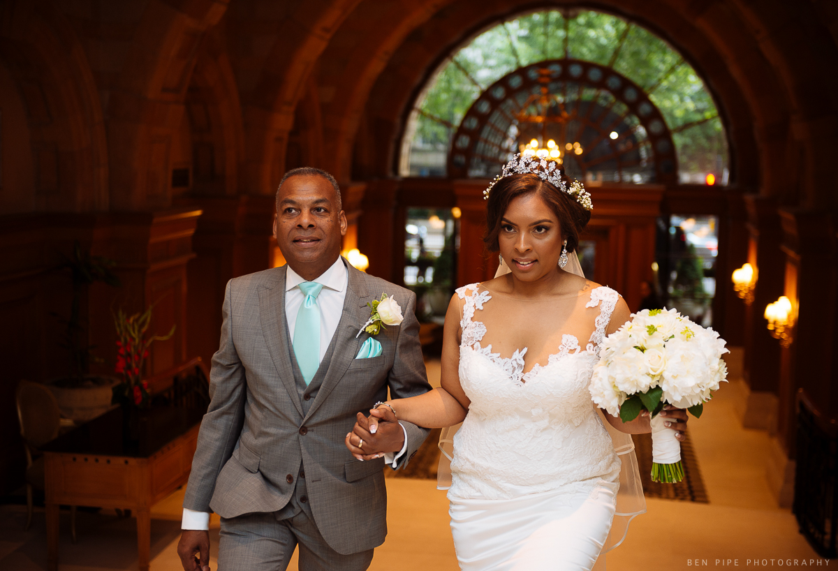 bride father landmark hotel london wedding