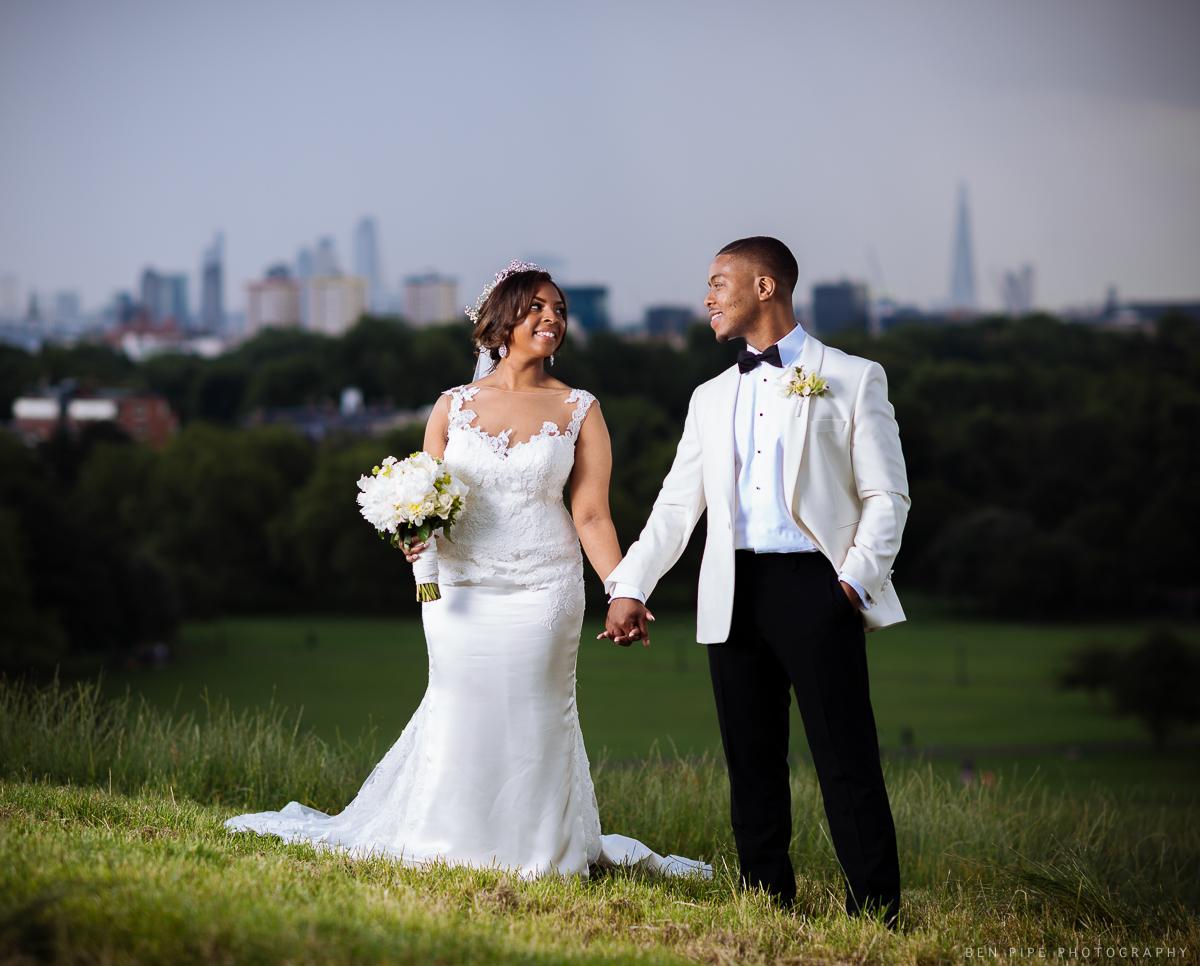 kelly masaka wedding portrait primrose hill london wedding photography profoto