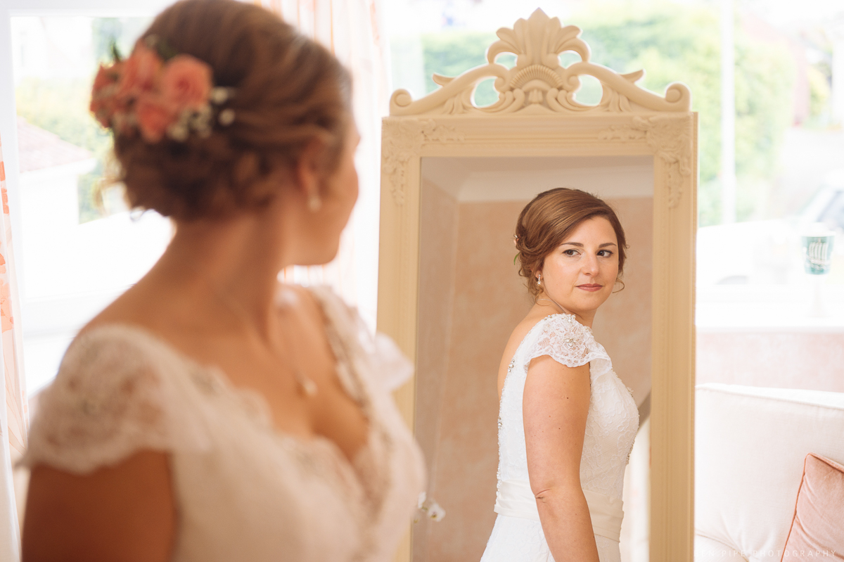 bride preparations wedding day weymouth wedding photography