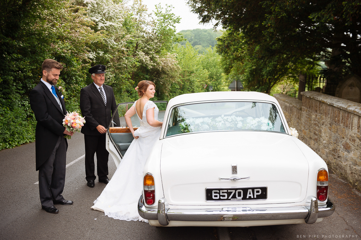 vintage wedding car weymouth