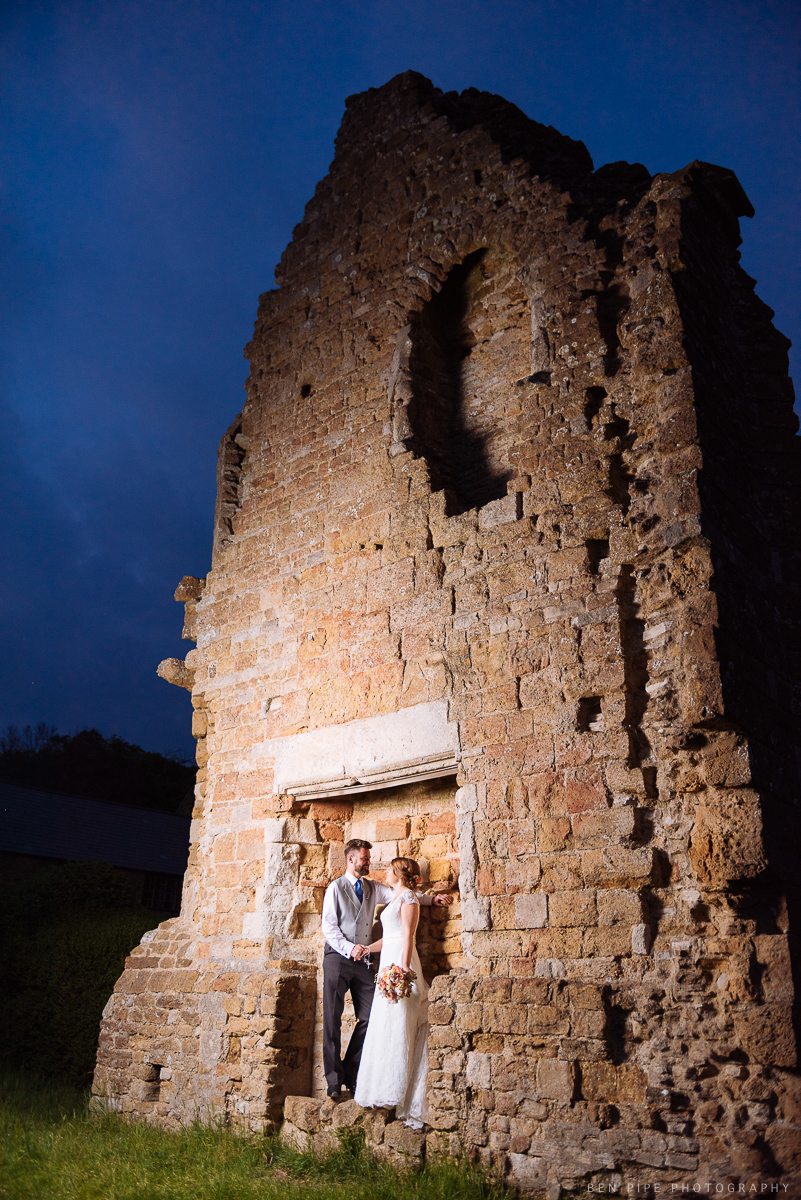 wedding photography profoto b1 lighting location dorset twilight