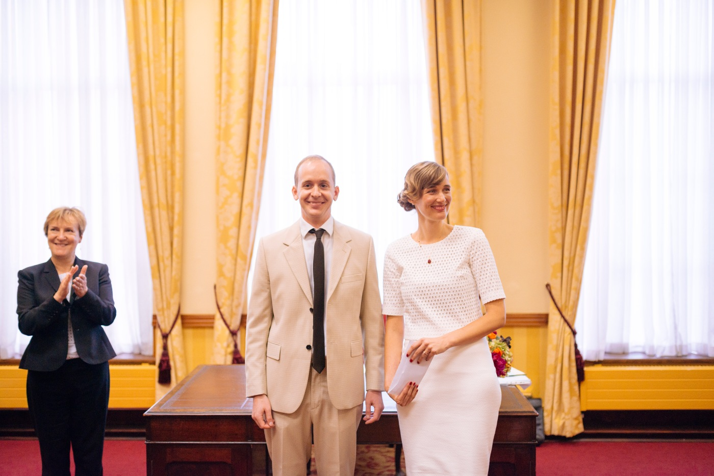 Brenda + Nick's wedding at Islington Town Hall, London