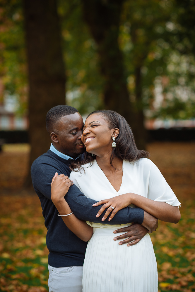 wedding engagement shoot in grosvenor square mayfair london
