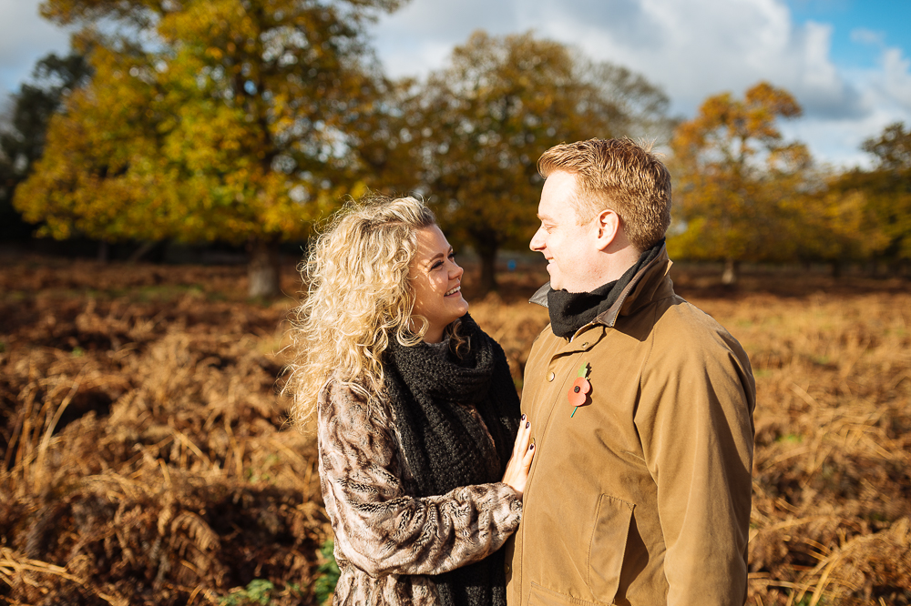 Abi + Pete's engagement shoot in Bushy Park london by Ben Pipe Wedding Photography