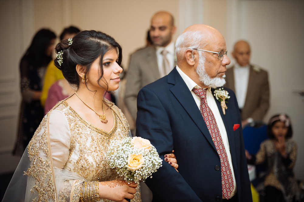 farah & sam wedding ceremony at pageant house warwick registry office