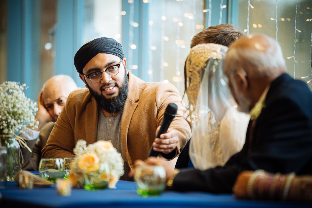 farah & sam muslim wedding ceremony with imam at jephson gardens warwick